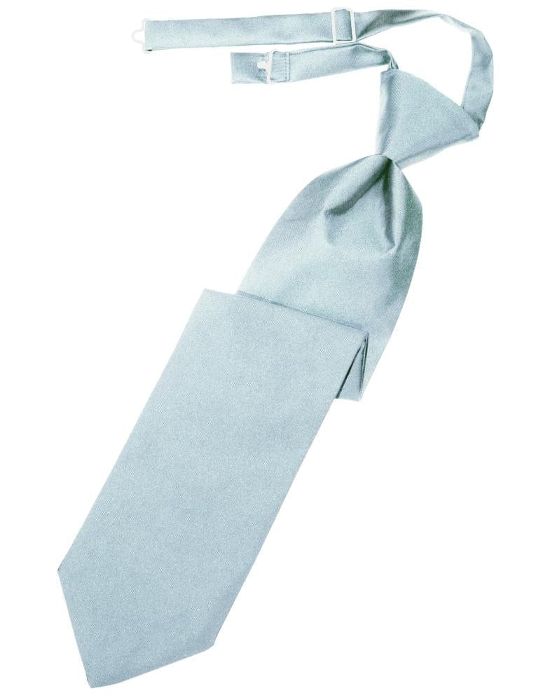 Light Blue Luxury Satin Kids Necktie