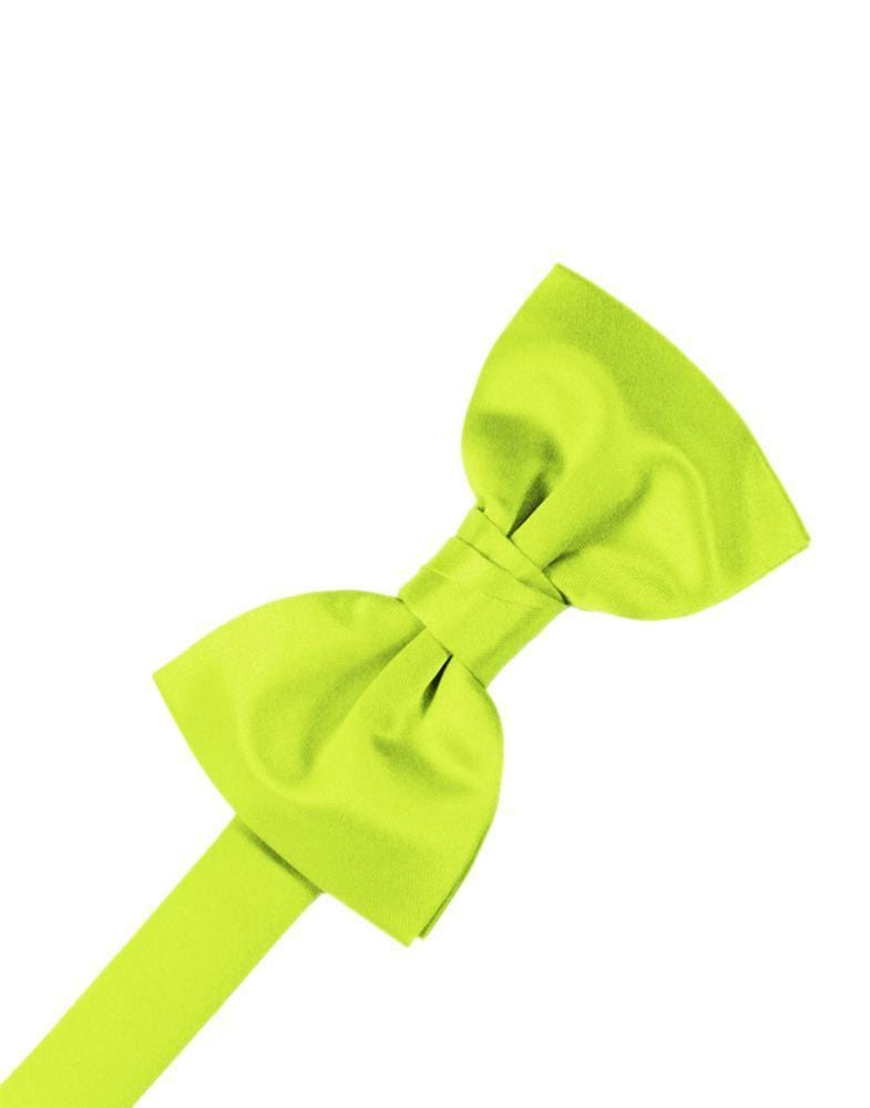Lime Luxury Satin Bow Tie