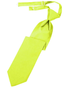 Lime Luxury Satin Kids Necktie