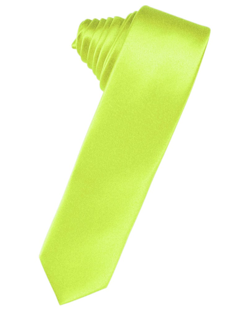 Lime Luxury Satin Skinny Necktie