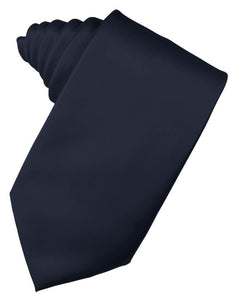 Midnight Luxury Satin Necktie