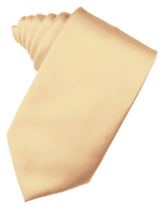 Peach Luxury Satin Necktie