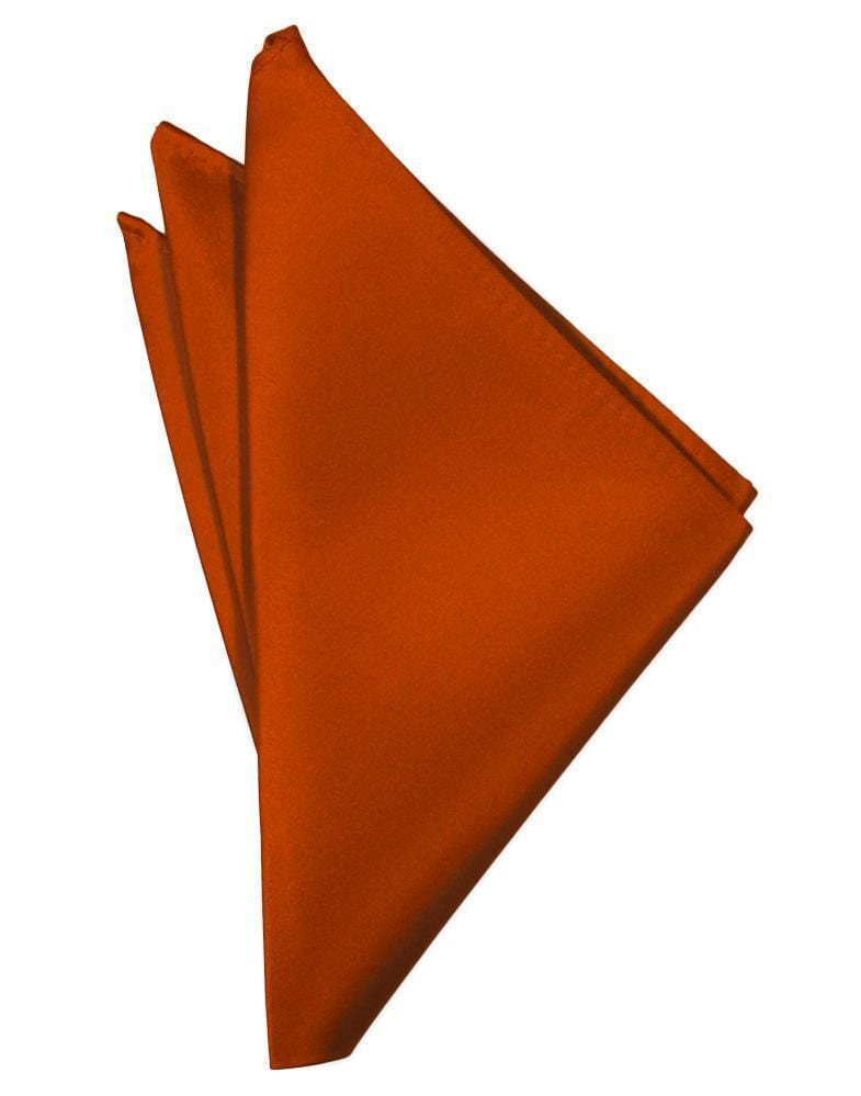 Persimmon Luxury Satin Pocket Square