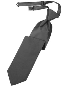 Pewter Luxury Satin Kids Necktie