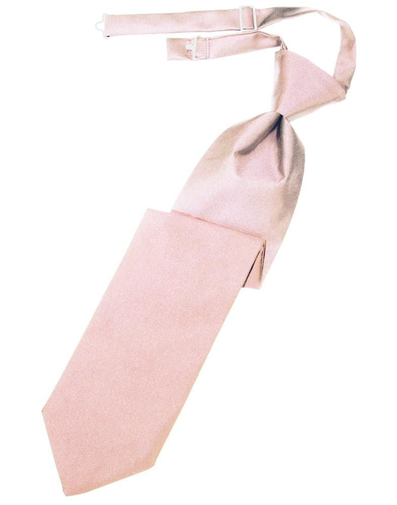 Pink Luxury Satin Kids Necktie