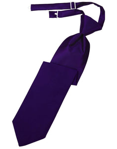 Purple Luxury Satin Kids Necktie