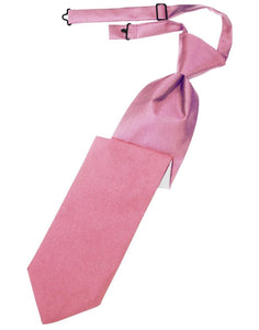 Rose Petal Luxury Satin Kids Necktie