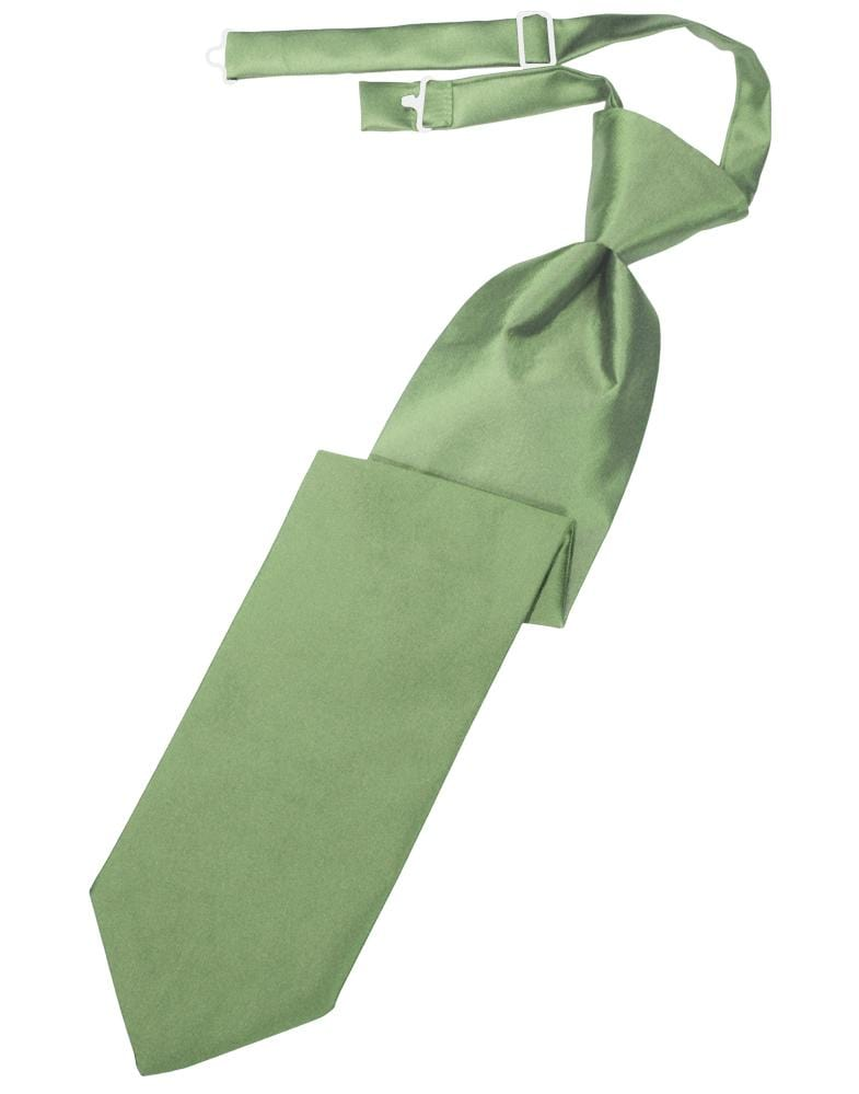 Sage Luxury Satin Kids Necktie