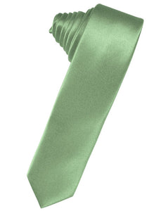Sage Luxury Satin Skinny Necktie