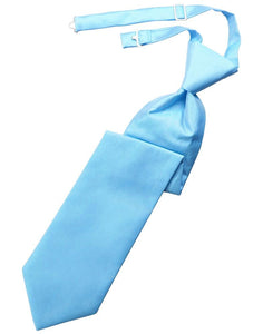Blue Ice Solid Twill Kids Necktie