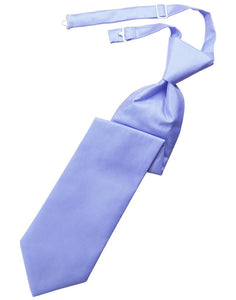 Cornflower Solid Twill Kids Necktie