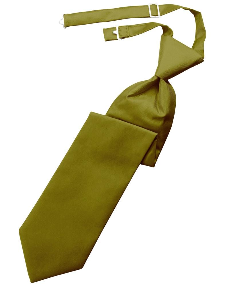 Gold Solid Twill Kids Necktie