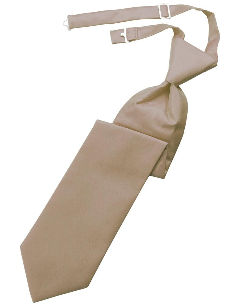 Latte Solid Twill Kids Necktie