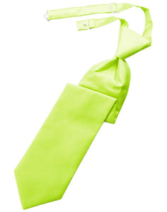 Lime Solid Twill Kids Necktie