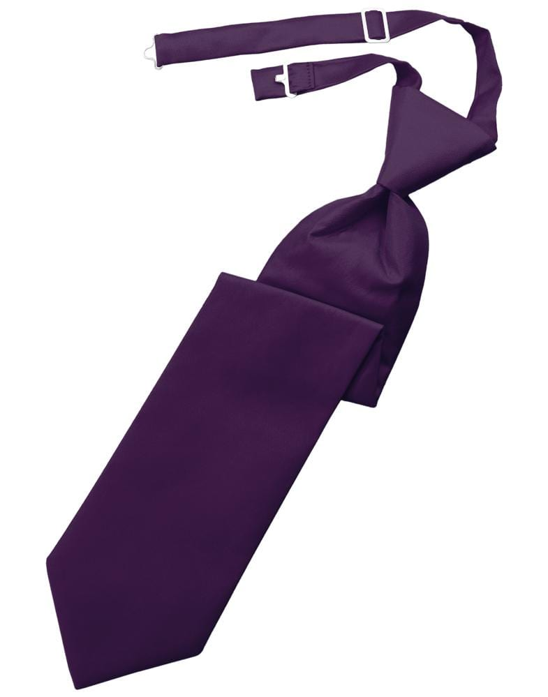 Raisin Solid Twill Kids Necktie