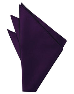 Raisin Solid Twill Pocket Square