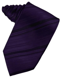 Amethyst Striped Satin Necktie