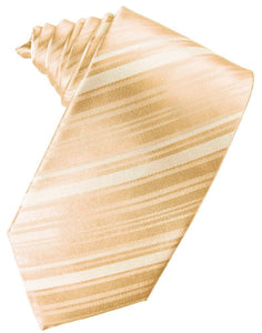Apricot Striped Satin Necktie