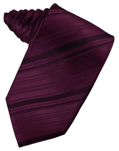 Berry Striped Satin Necktie