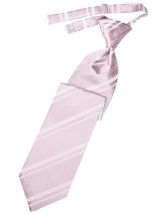 Blush Striped Satin Kids Necktie