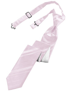 Blush Striped Satin Skinny Windsor Tie