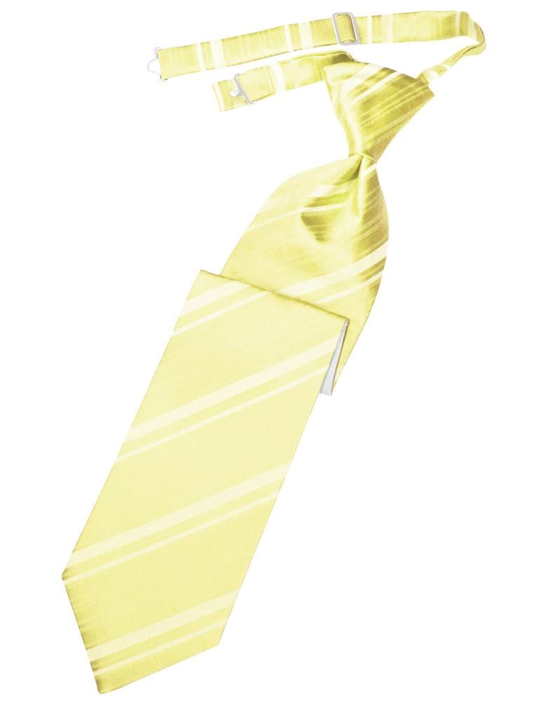 Canary Striped Satin Kids Necktie