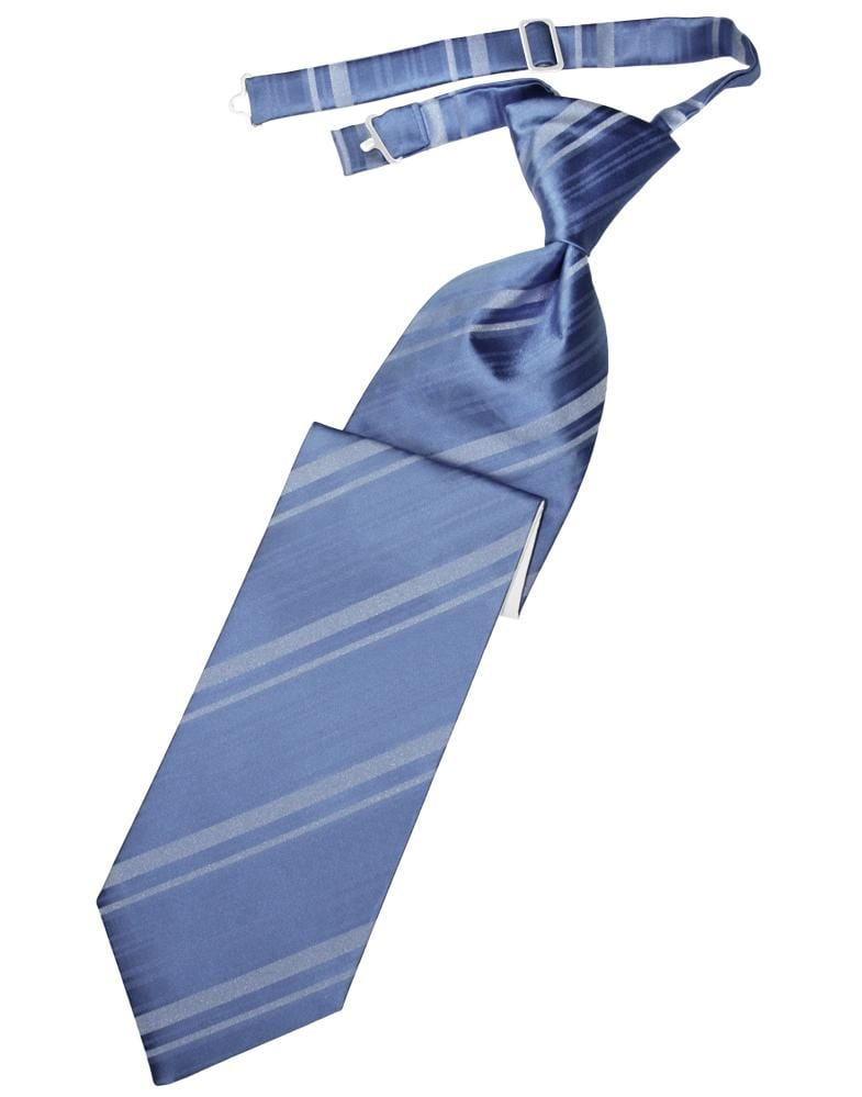 Cornflower Striped Satin Kids Necktie
