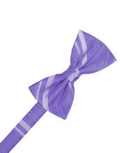 Freesia Striped Satin Bow Tie
