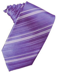 Freesia Striped Satin Necktie