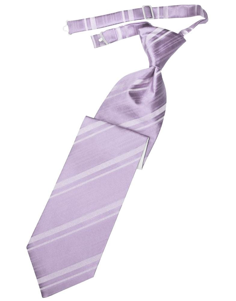 Heather Striped Satin Kids Necktie