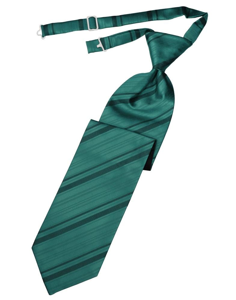 Jade Striped Satin Kids Necktie