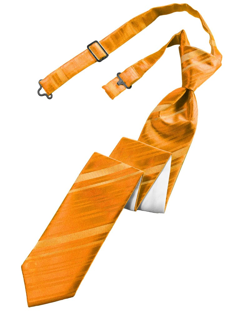 Mandarin Striped Satin Skinny Windsor Tie