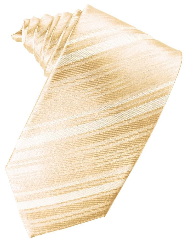 Peach Striped Satin Necktie