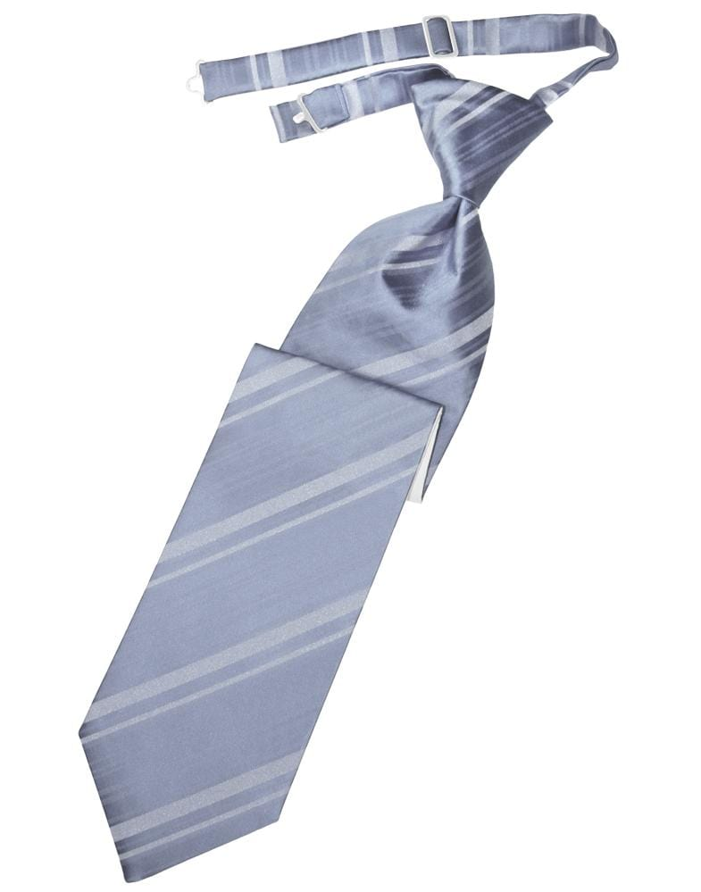 Periwinkle Striped Satin Kids Necktie