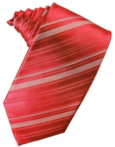 Persimmon Striped Satin Necktie