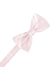 Pink Striped Satin Bow Tie