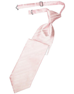 Pink Striped Satin Kids Necktie