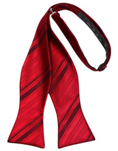 Scarlet Striped Satin Bow Tie