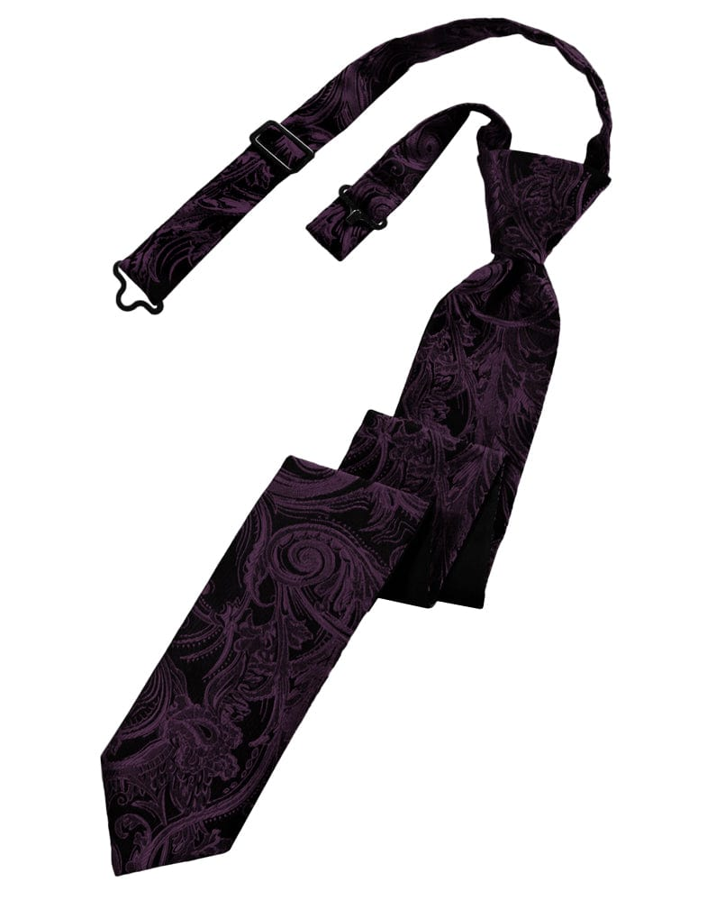 Berry Tapestry Skinny Windsor Tie