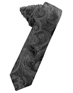 Charcoal Tapestry Skinny Necktie