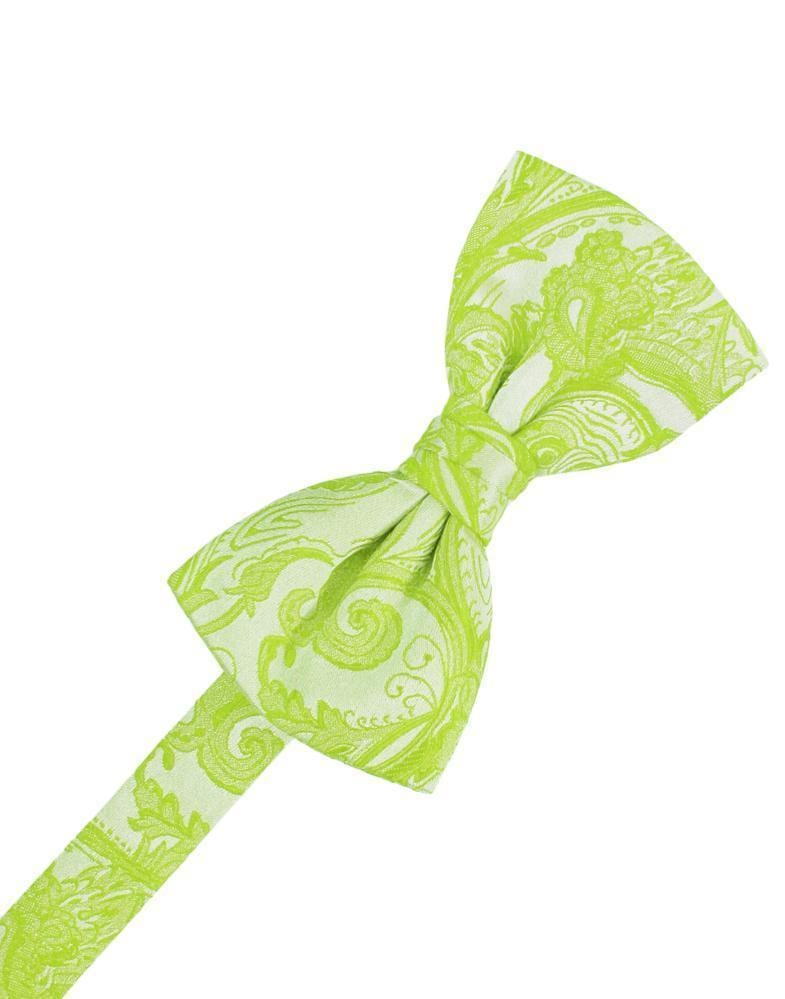 Lime Tapestry Bow Tie
