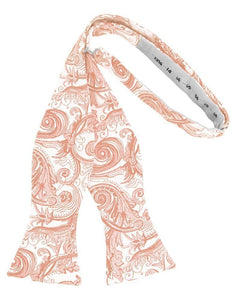 Peach Tapestry Bow Tie