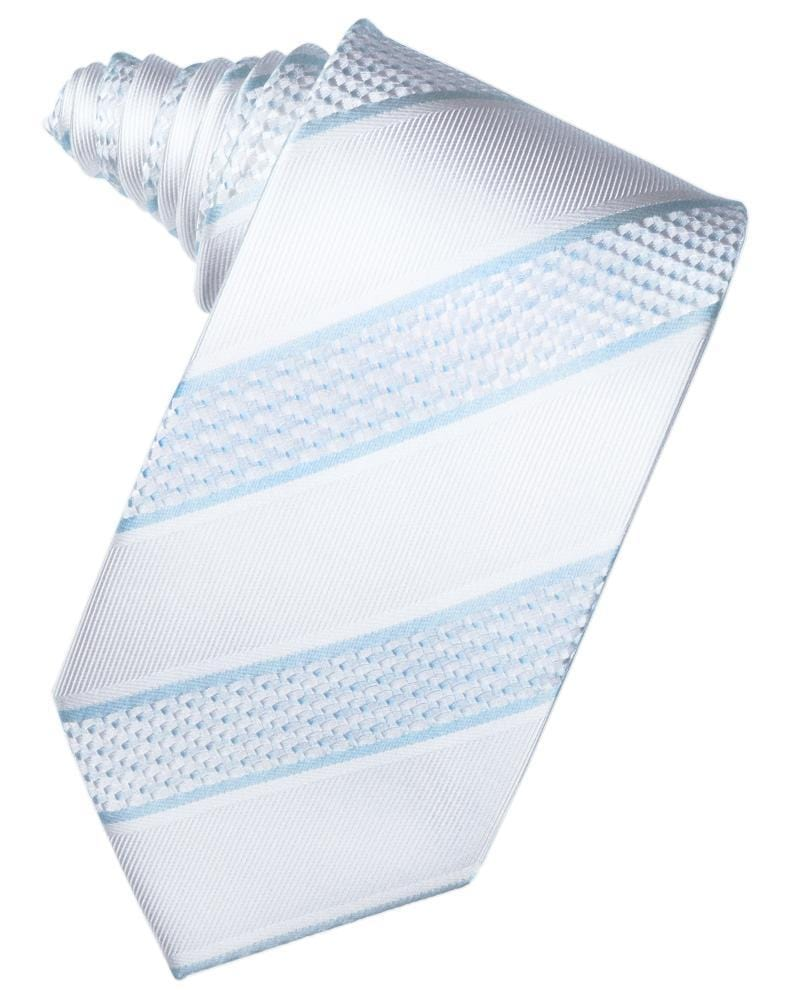 Powder Blue Venetian Stripe Necktie