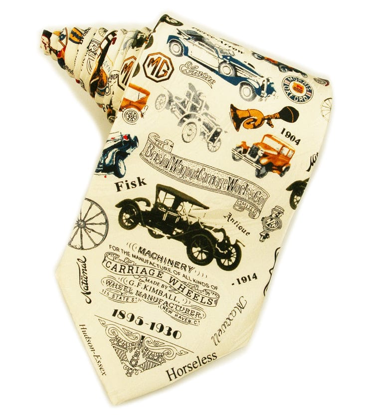 Antique Cars in Color Tie