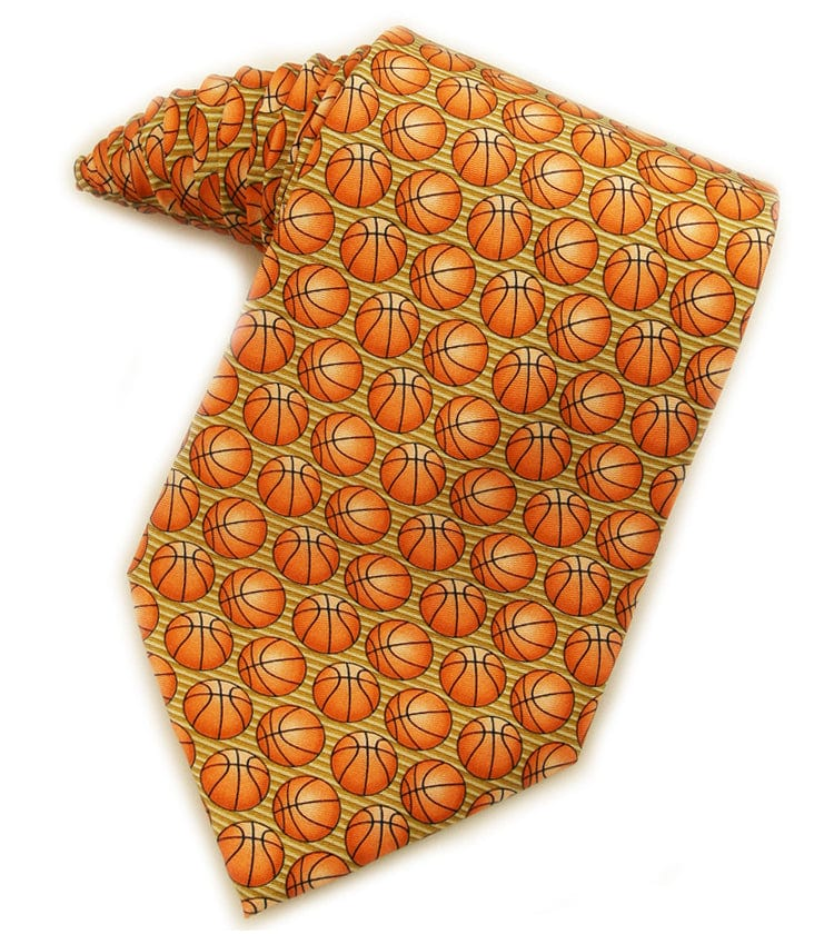 Basketballs Gold Tie
