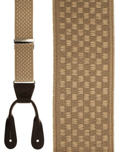 """Beige Checkers"" Suspenders"