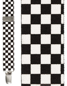 """Black & White Checkers"" Suspenders"