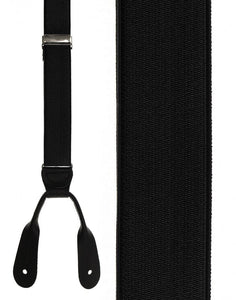 """French Satin"" Black Suspenders"