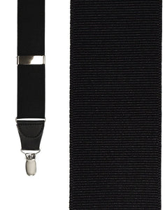 """Black Grosgraine Ribbon"" Suspenders"