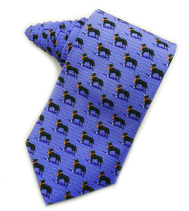 Black Labrador Retrievers Blue Tie